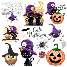Cute Halloween Illustrations W...