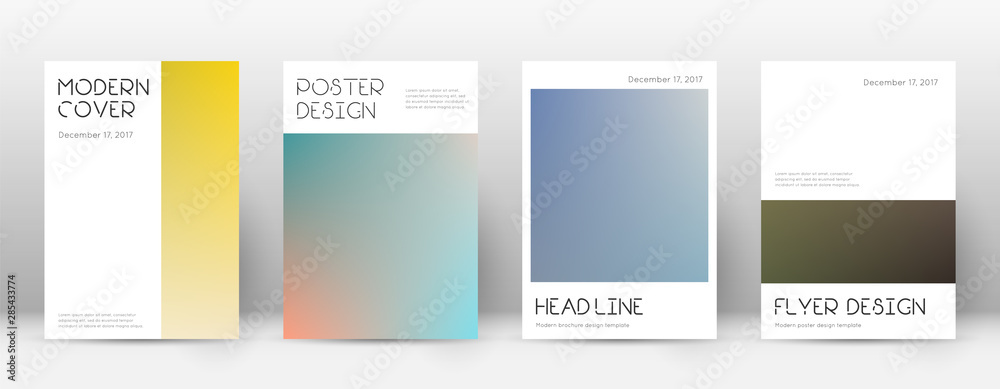 Fototapeta Flyer layout. Minimal brilliant template for Broch
