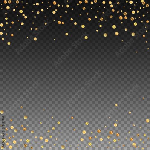 Sparse gold confetti luxury sparkling confetti. Sc Fototapete