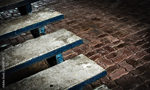 Steps of stairs on the background of paving slabs