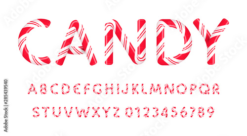 Cuadros en Lienzo  Candy letters and numbers set