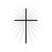 Christian Symbol, Black Thin C...