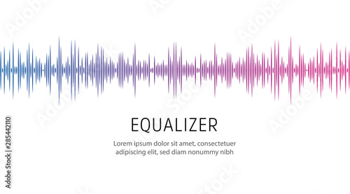 Photo  Equalizer poster template