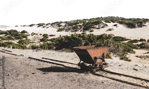 Photo Old Mine Carts on the beach - Piscinas Sardegna