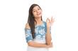 Leinwanddruck Bild - Cheerful attractive young women posing
