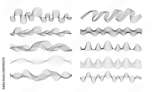 Fotomural  Set of Radio Wave icons