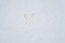 Angel Figure On Snow, Winter O...