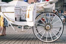 Closeup White Carriage In Krak...