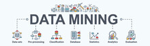 Data Mining Banner Web Icon Fo...