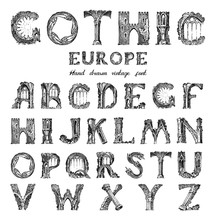 Decorative Gothic Alphabet In ...