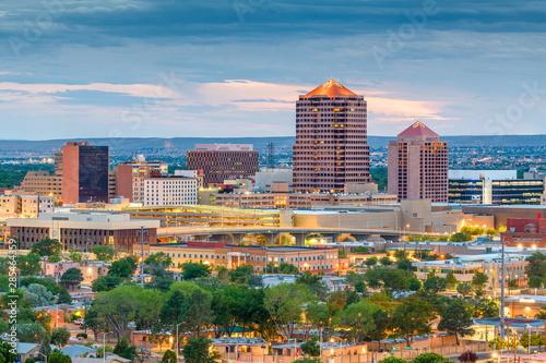Foto auf Leinwand Blau Jeans Albuquerque, New Mexico, USA Cityscape