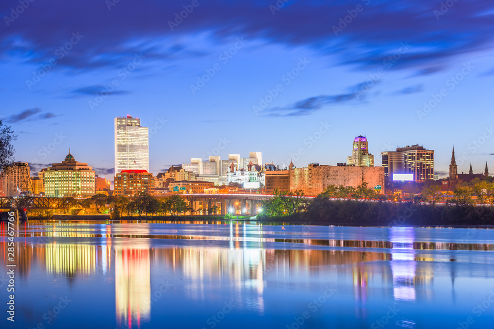 Fototapety, obrazy: Albany, New York, USA skyline on the Hudson River