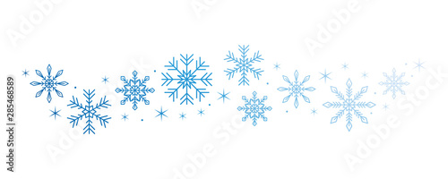 Obraz bright snowflake and stars border isolated on white background vector illustration EPS10 - fototapety do salonu