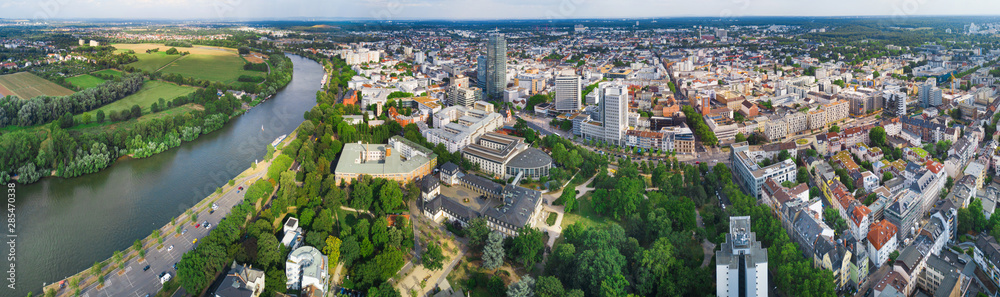 Fototapety, obrazy: Offenbach - Great panorama of the city in summer