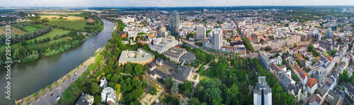 Recess Fitting Pistachio Offenbach - Great panorama of the city in summer