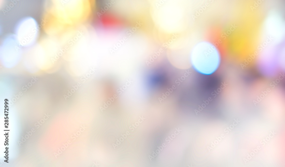 Fototapety, obrazy: defocused bokeh light, abstract background at night photo