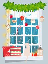 Snowbound Window Decorated Wit...