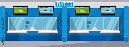 Fotografie, Obraz  Bookmakers office flat vector illustration