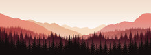 Vector Panoramic Landscape Wit...