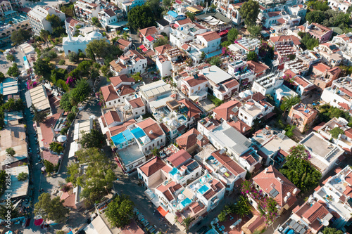 Fototapeta Aerial shot of Kalkan town in Turkey obraz na płótnie