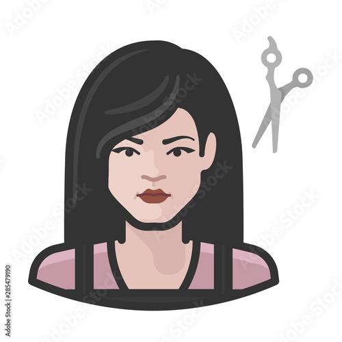 hairdresser white female avatar icon