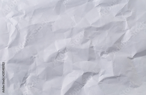 Crumpled white paper - 285483153