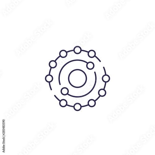antioxidant icon in line design Canvas Print