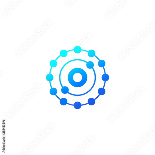 Fototapeta antioxidant icon on white, vector obraz