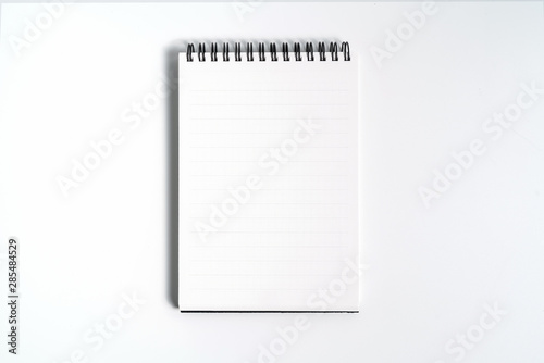 Cuadros en Lienzo Notebook mock up with clean black blank for design and advertising