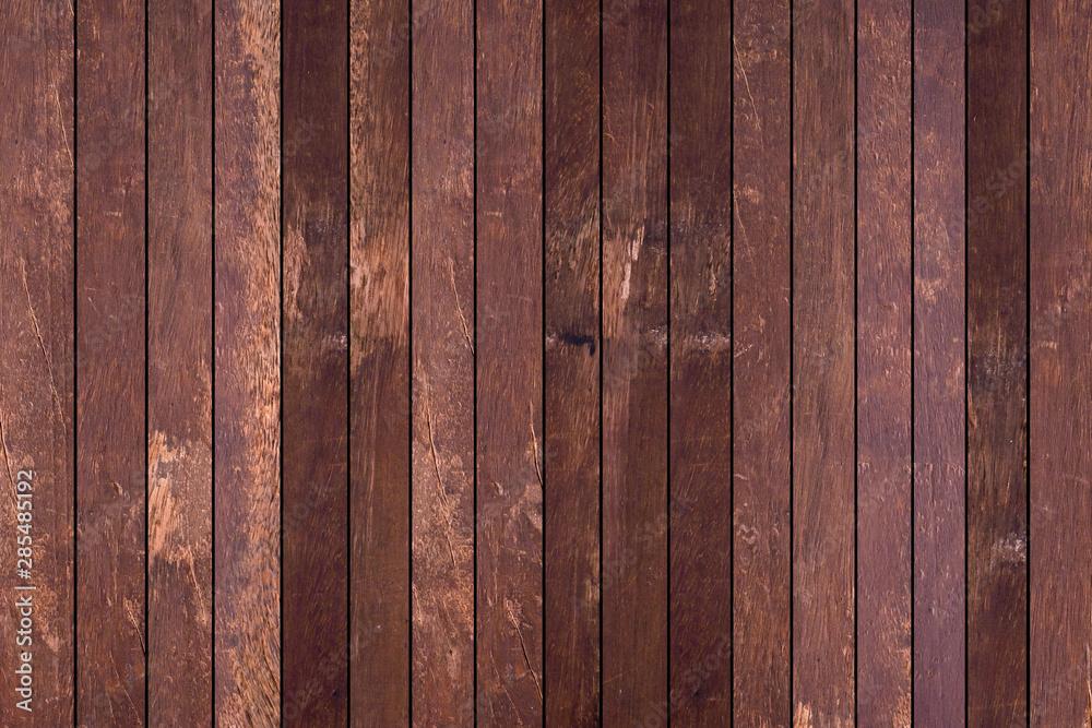 Fototapeta close up striped retro style of brown wood background for design concept - obraz na płótnie