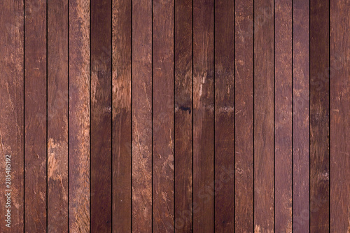 Fototapeta close up striped retro style of brown wood background for design concept	 obraz na płótnie