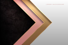 Golden White And Pink Paper Ba...