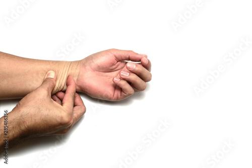 Fototapeta  Skin elasticity check