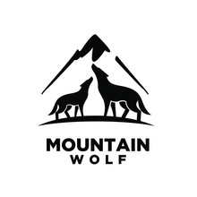 Wolf Mountain Logo Icon Design