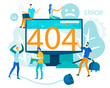 Page not Found 404 Error on Monitor Puzzled People