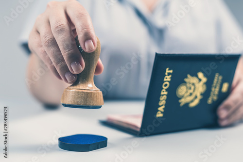 Fotografie, Tablou  Immigration and passport control at the airport