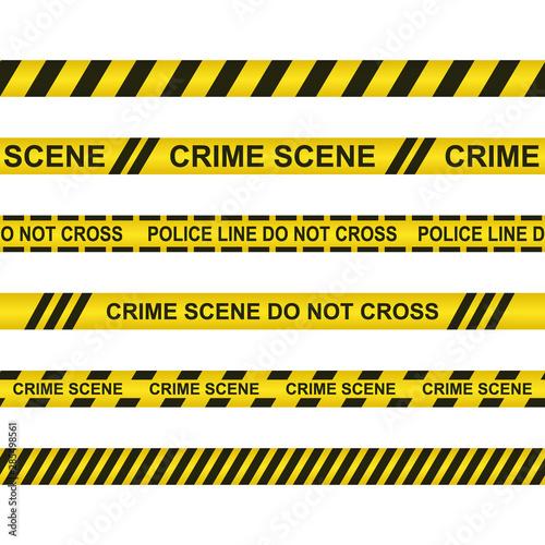 Obraz na plátne  Crime scene do not cross vector design illustration isolated on white background