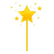 Golden Magic Wand Vector Desig...