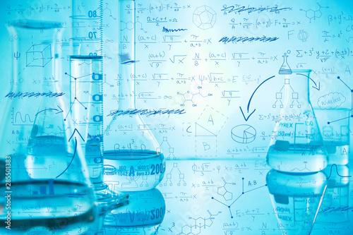 chimica, scienza, molecole, farmacologia Canvas Print