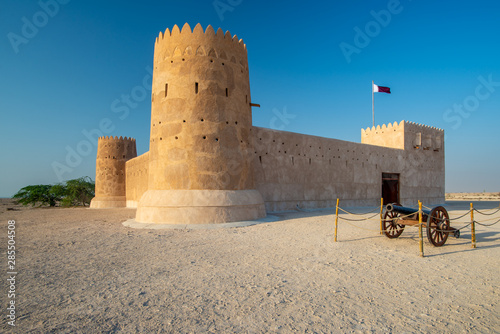 Photo Entrance of Al Zubarah fort, Qatar