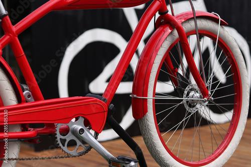 Türaufkleber Fahrrad new red bike - detailed view