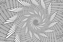 Abstract Geometric Fractal Art, Illustration