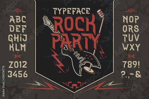 Fototapeta Font Rock Party