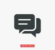 Speech Bubble Chat Icon Vector Illustration