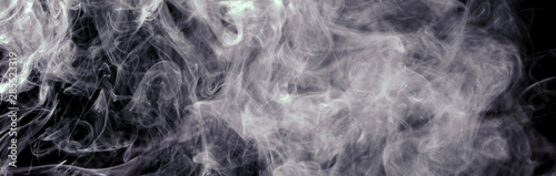 white smoke blot on black