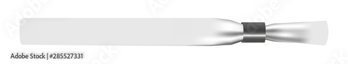 Fotomural  Vector illustration of white empty fabric polyester bracelet or wristband with plastic safety lock