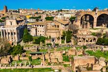 Ancient Forum Vesta Temple Regia Basilica Constantine Rome Italy