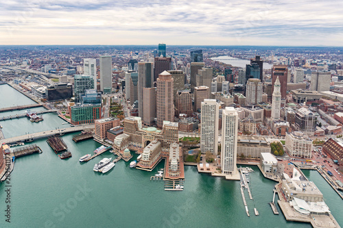 Cuadros en Lienzo Boston city skyline, United States
