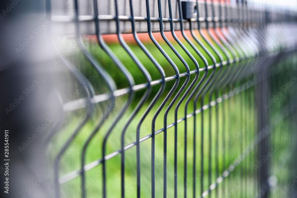 Fototapeta grating wire industrial fence panel gate