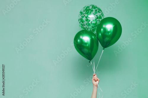 Fototapeta  stylish birthday party or holidays with balloons